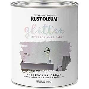 Rust-Oleum Glitter Interior Wall Paint, Iridescent Clear