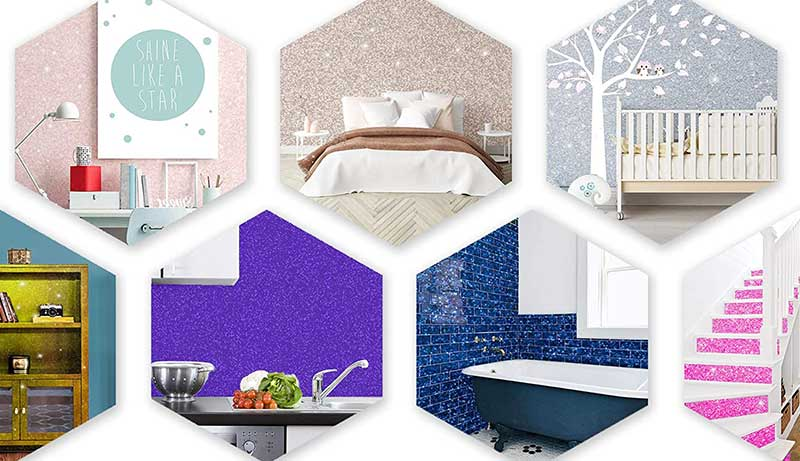 best glitter paint for walls