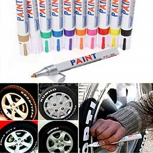 Permanent Tire Paint Pen- 13 Colors - Tread Rubber Metal