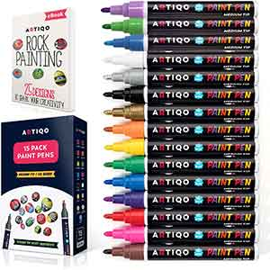 Tire Paint Pens for Multiple Surfaces - (15 Colors) Quick Dry