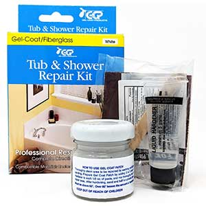 Tub and Shower Gelcoat Repair Kit - White