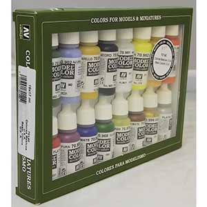 Vallejo Model Paints for Hand Brushing | Easy-Mix | 3 Base Colors